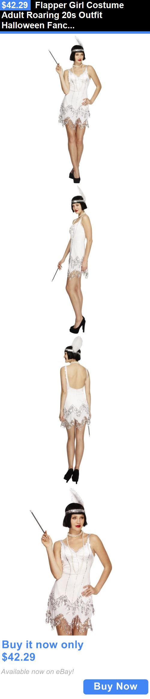 Halloween Costumes Women: Flapper Girl Costume Adult Roaring 20S Outfit Halloween Fancy Dress BUY IT NOW ONLY: $42.29