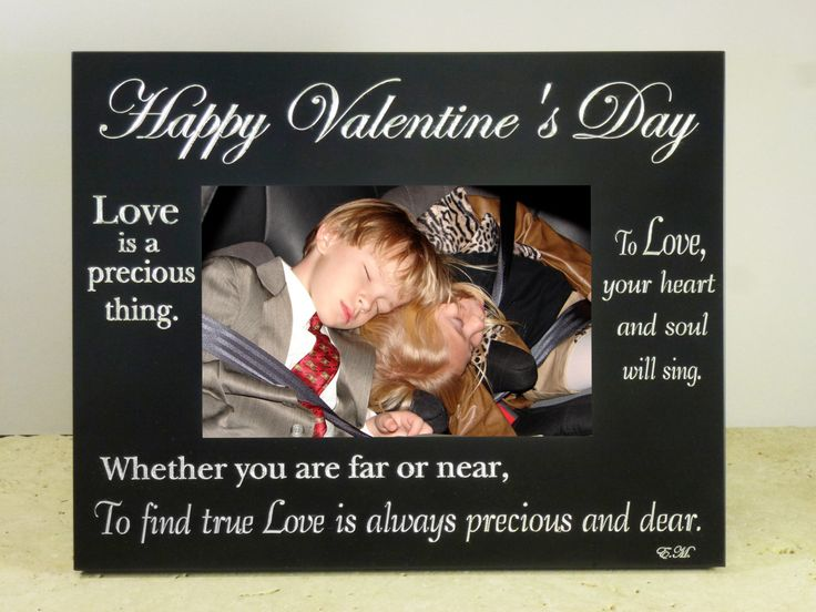 1 pcs - Happy Valentines Day Picture Frame holds a 4x6 Print in Black Aluminium - Ships from Texas by TIJC - FC554BKHVD by TIJC on Etsy
