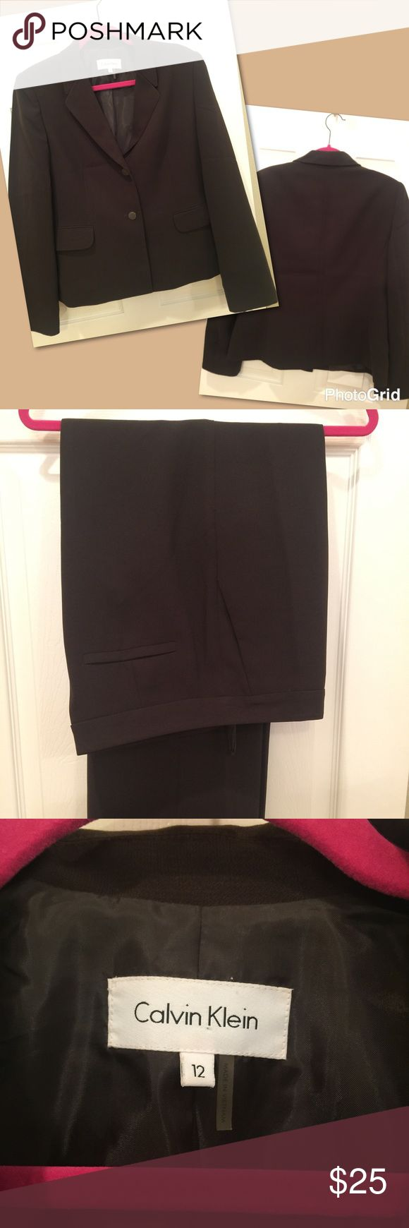 Calvin Klein Brown Ladies Business Suit Size 12 Calvin Klein ladies business suit, fully lined,  in great condition (worn less than 5 times). Calvin Klein Other