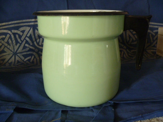 French  Enamelware  Steamer  Bottle Warmer  by JanniesJunkandJems, €50.00