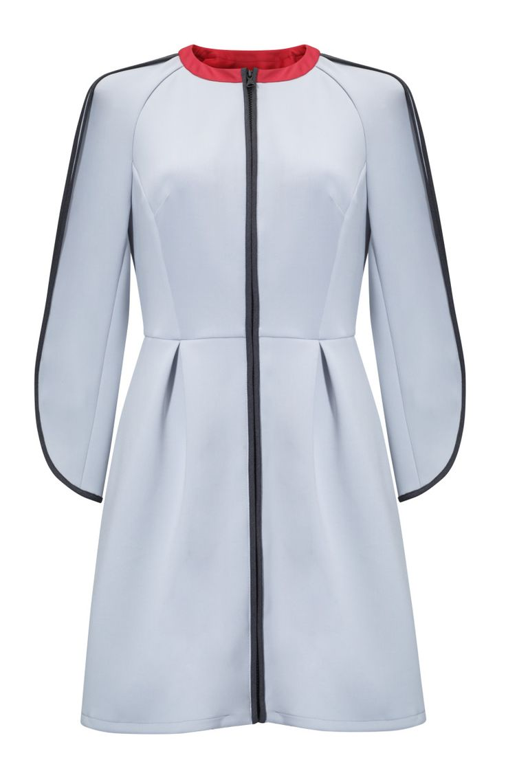 Kosmal, Lucky Me, resort 2016, zipper coat (baby blue). To download high or low resolution product images view Mondrianista.com (editorial use only).
