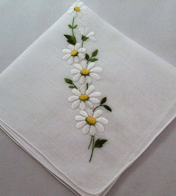815 Best Images About Embroidery - Handkerchiefs On Pinterest | Hand Embroidery Embroidered ...