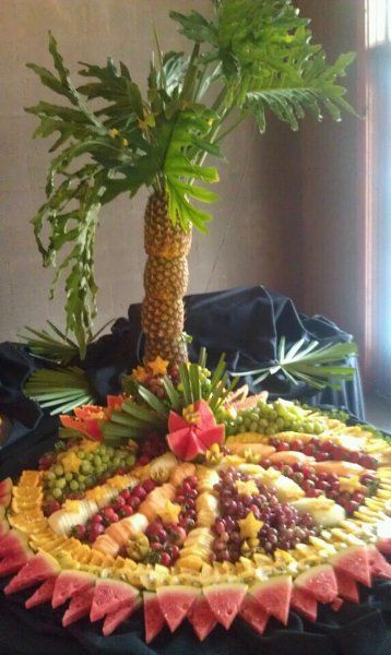 Pineapple Palm Tree Fruit Display | Pineapple Palm Tree Tropical Fruit Display Kit Marietta Wedding Pic #3