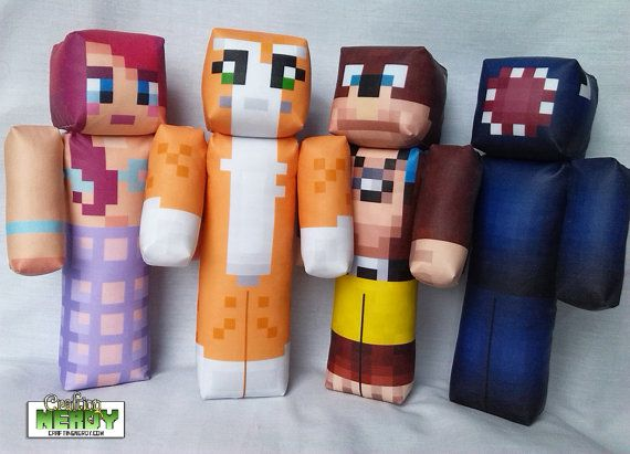 Plush Minecraft Inspired Stampylongnose toy by CraftingNerdy