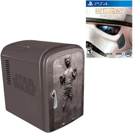 Star Wars Battlefront Deluxe Edition (PS4) with Han Solo Fridge - Walmart.com
