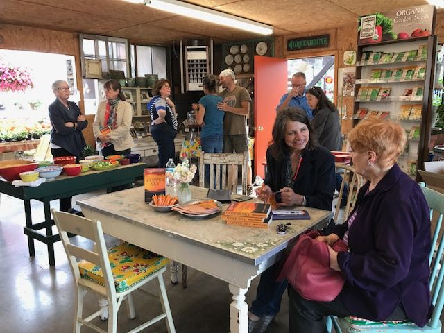 Milana Marsenich signed copies of her novel Copper Sky at South Shore Greenhouse, #Polson, #Montana on June 9. http://bit.ly/2qEABxk