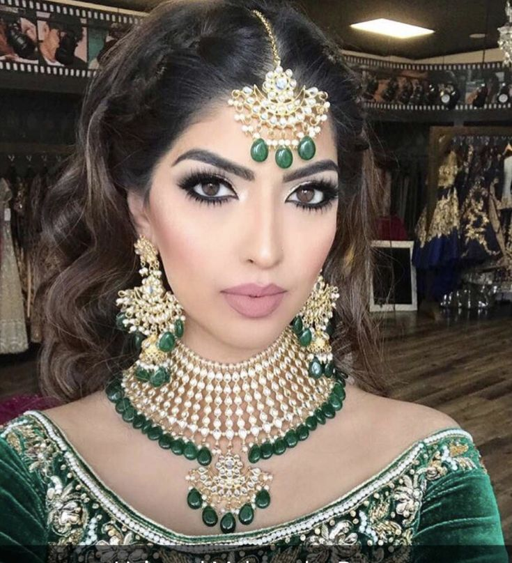 Indian bridal makeup Nude Smokey eye makeup
