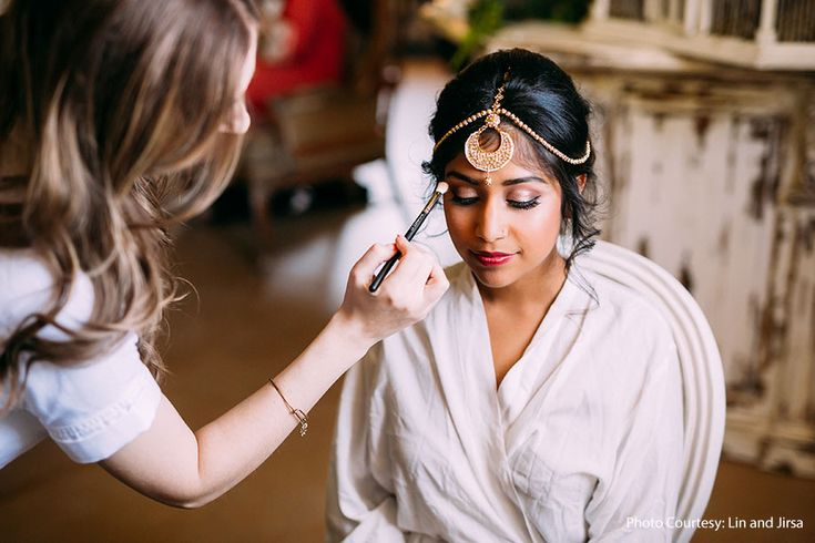 A bronze makeup look for bride Ashika by Design Visage