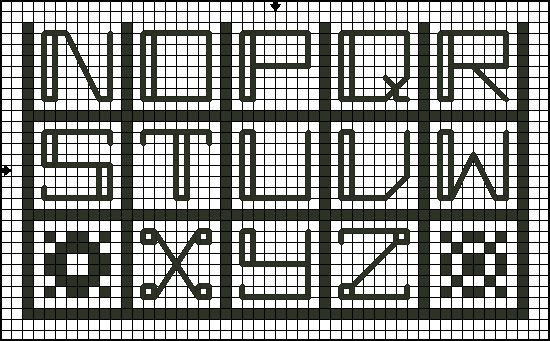 Free Alphabet Block Sampler Cross Stitch Chart Free