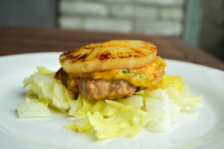 Hawaiaanse kipburgers