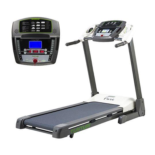 Tunturi loopband Pure Run 2.1  Description: Meer dan 30 jaar geleden was Tunturi de pionier in elektrisch aangedreven loopbanden. Het idee? Lopen is de meest natuurlijke vorm van bewegen en daarom de meest effectieve manier voor fitness. Je bloedsomloop zal gestimuleerd worden door rustige of wat zwaardere programma's uit te voeren. Voor elk niveau sporter is er op dit model een uitdaging te vinden. Uiteraard zal je conditie ook geprikkeld worden makkelijk te monitoren door middel van de…