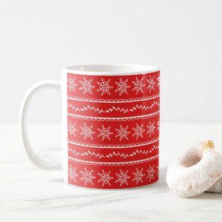 Snowflakes and Vines Designer Coffee Mug
