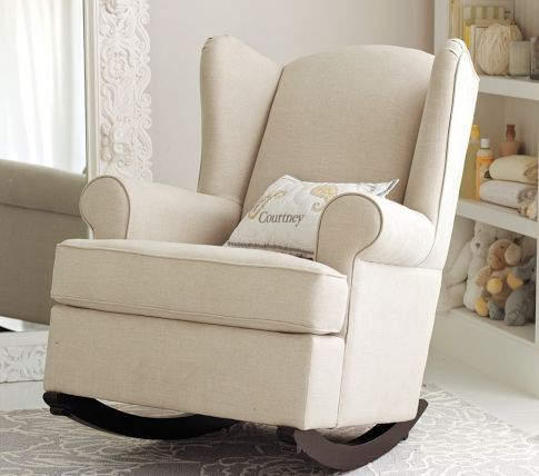 Pb Kids Upholstered Rocking Chair For Baby Nursery Furniture Littles Pinterest And Pottery Barn