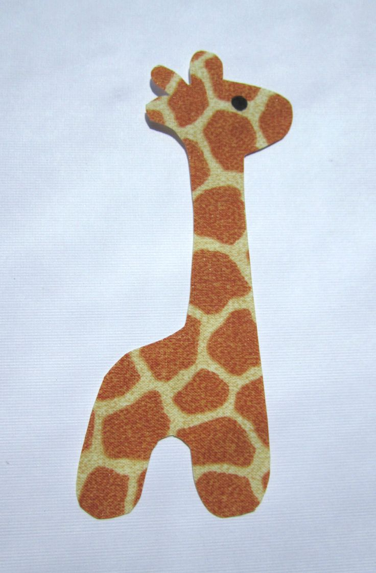 Iron-On Applique Giraffe - Perfect for Onesies or Bibs. $1.99, via Etsy.
