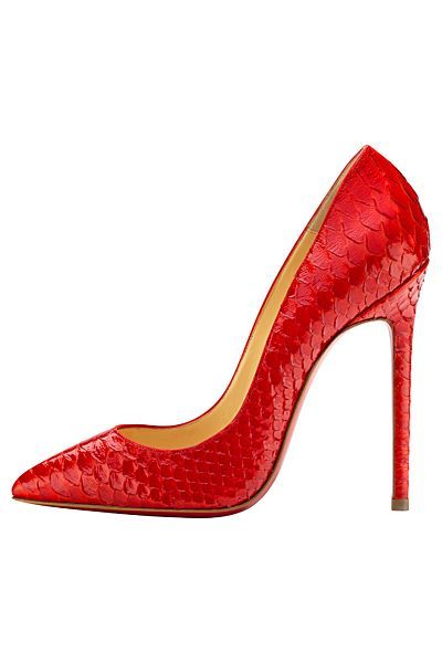 Delish!! Red, snakeskin, AND ice that cake -- Christian Louboutin - Women's Shoes - 2014 Spring-Summer