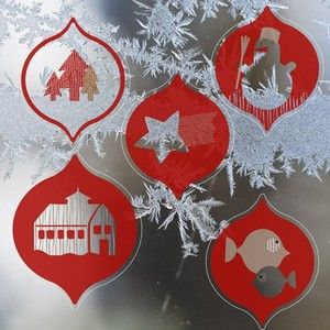 Red window stickers