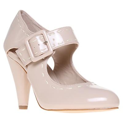 KG by Kurt Geiger Aurora 2 Contrast Stitch Mary Jane Shoes, Nude Patent