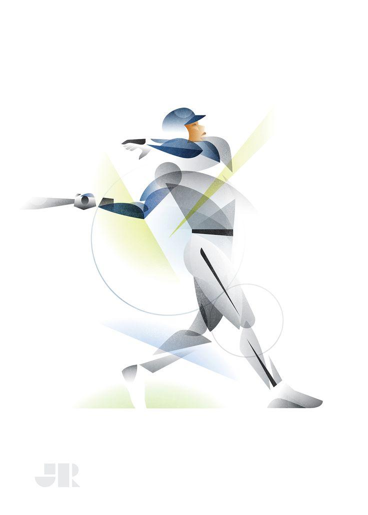 The Geometry of Sport by Matt Stevens #illustration #sports #geometric
