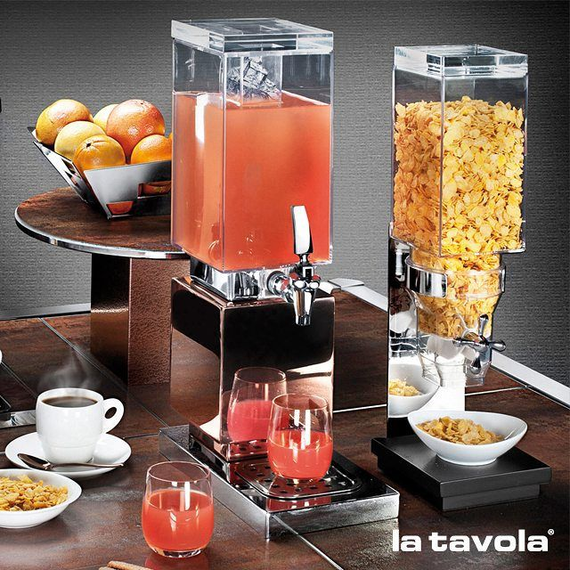 Cereal & Juice Dispensers and buffet essentials that often take a back seat…