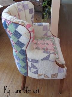 Patchwork Quilt Chair...LOVELOVELOVE THIS!!!!!!