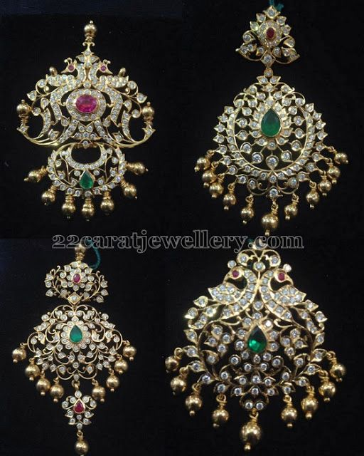 Jewellery Designs: Closed Setting Diamond Pendants