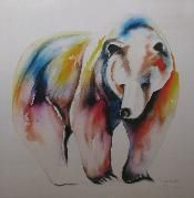 Faith Harckham Canadian Original Bear Painting  Suzy Grizzly Limited Edition Print (HARCKG003)