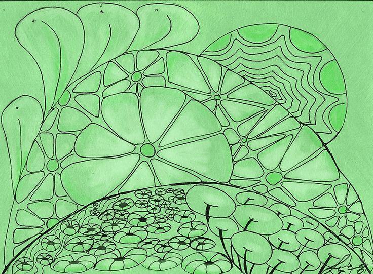 Green Zentangle