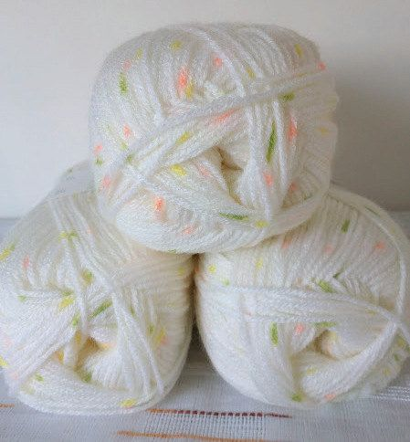 Baby yarn acrylic yarn Multicolor pink yellow by Yarnshopping