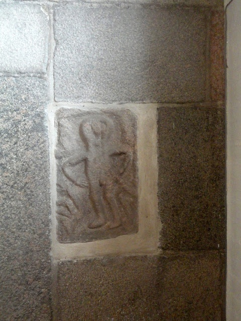 The Naked Boy in Hvidbjerg Church (Thyholm). Placed by the south door.