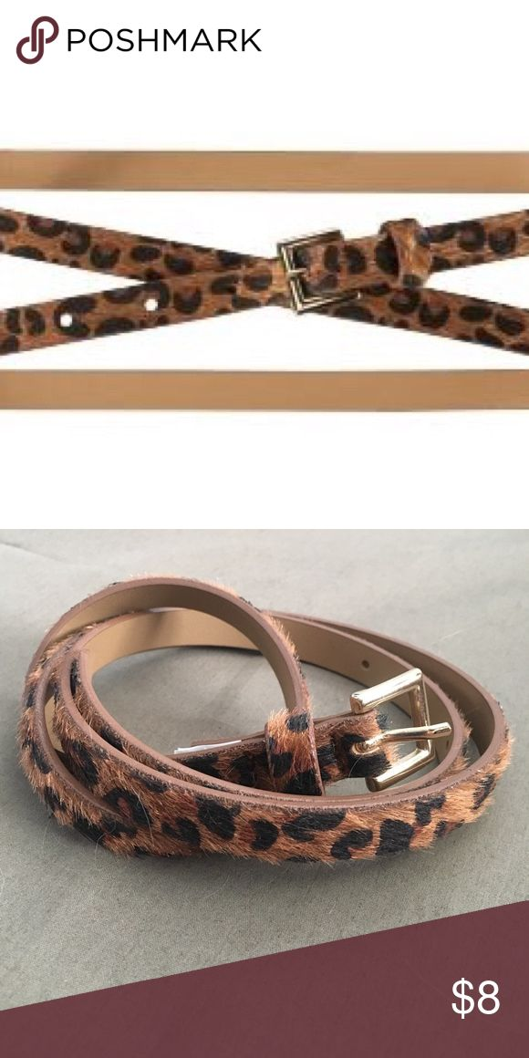 "Old Navy Skinny Animal Print Belt Faux fur leopard print belt. Worn a few times. EUC ~40"" long. Old Navy Accessories Belts"