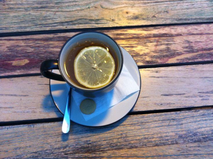 Hot Lemon Tea with Biscotti