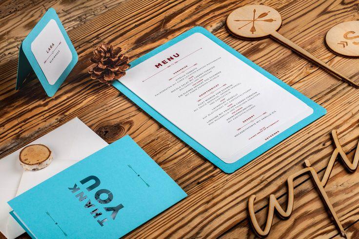 Svatební menu / Hipster wedding menu