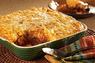 Horneado de macarrones con queso y carne de res Receta - Comida Kraft