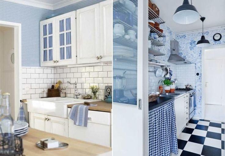 Планируем дизайн голубой кухни и подбираем: сочетания цветов, обои, шторы, гарнитур, мебель и вдохновляемся 100 фото интерьеров в стиле прованс, классика, скандинавский и т.д.