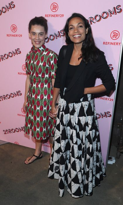 Rosario Dawson had a girls' night out with her daughter, whom she adopted in 2014, at Refinery29's 29Rooms.