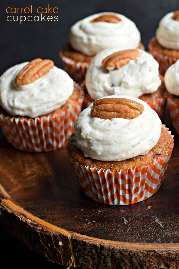 Delicious, from scratch, Carrot Cake Cupcakes topped with cream cheese frosting. East to follow recipe, perfect for holidays or bake sales!