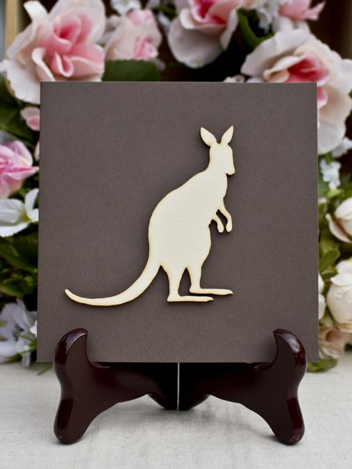 ADORABLE KANGAROO HAND MADE GIFT CARD FROM www.thebirdhousecollection.com.au