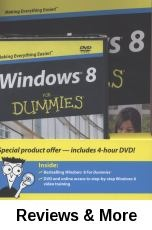 Windows 8 for dummies / by Andy Rathbone.  he book walks readers through the basics, from the core activities that don't change from version to version, to the tools that enhance the system, to the latest updates that make Windows 8 different from previous versions.