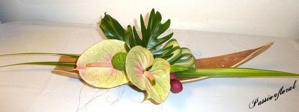composition exotique dans une coque de palmier suite2 fleurs mariage pinterest composition. Black Bedroom Furniture Sets. Home Design Ideas
