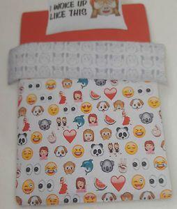 PRIMARK Emoji Single or Double Duvet Cover Set Inc Pillowcase BRAND NEW