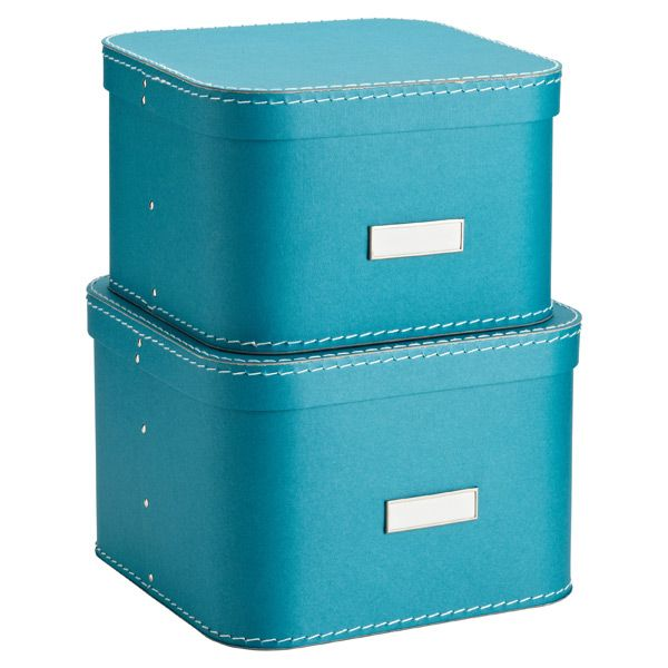 The Container Store U003e Turquoise Oskar Boxes