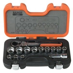 Bahco 14pce Go-Thru Socket Set S140T