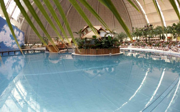 Tropical Islands: Relax by the Tropical Sea with white sandy beaches. Indoor water park near Berlin