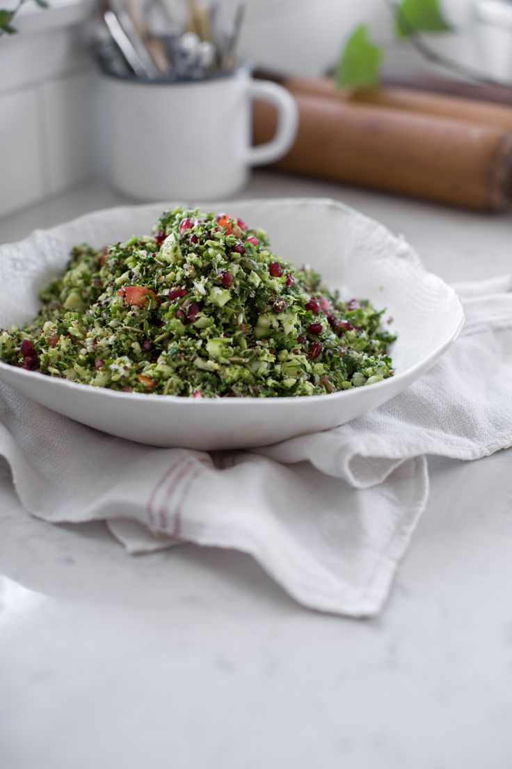 10 Min Vegan Raw Broccoli Tabouli | Cook Republic