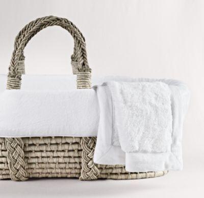Cuddle Plush Moses Basket Bedding & Ash Basket | Moses Basket Bedding | Restoration Hardware Baby & Child