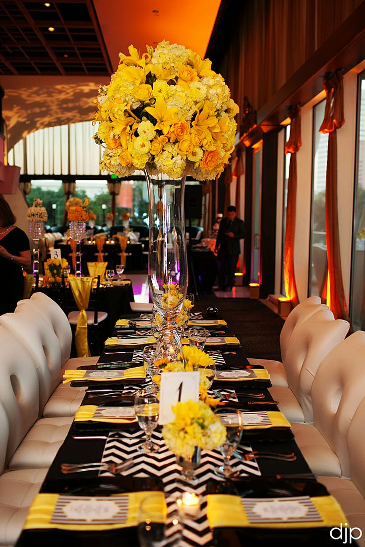 The 284 Best Black Yellow Weddingsreception Images On Pinterest