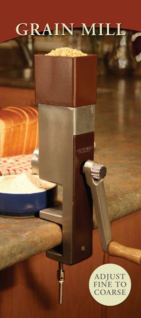 Grain Mill - Victorio Hand Crank : Homesteader's Supply - Self Sufficient Living