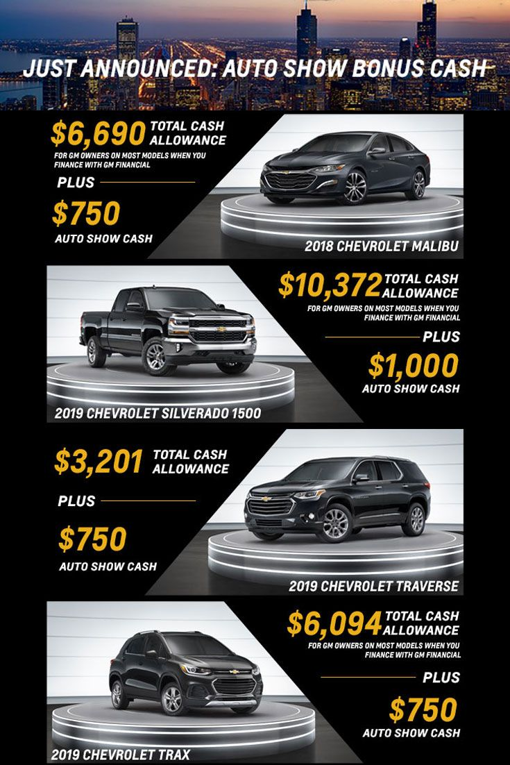 Chevy Is Offering Extra Cash Incentives In Celebration Of The
