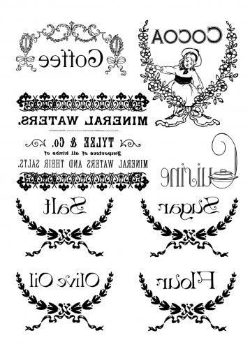 Transzfer papír A4 - Konyha - fekete - Transzferpapírok - Kreativ Hobby Dekor
