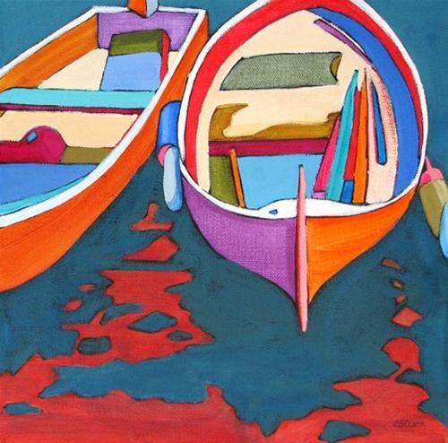 """Moored"" - Original Fine Art for Sale - © Carolee Clark"